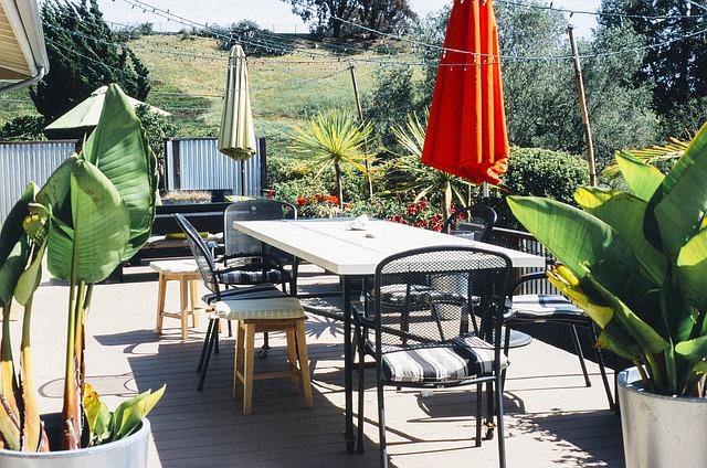 שולחנות אלומיניום לגינה ולמרפסת